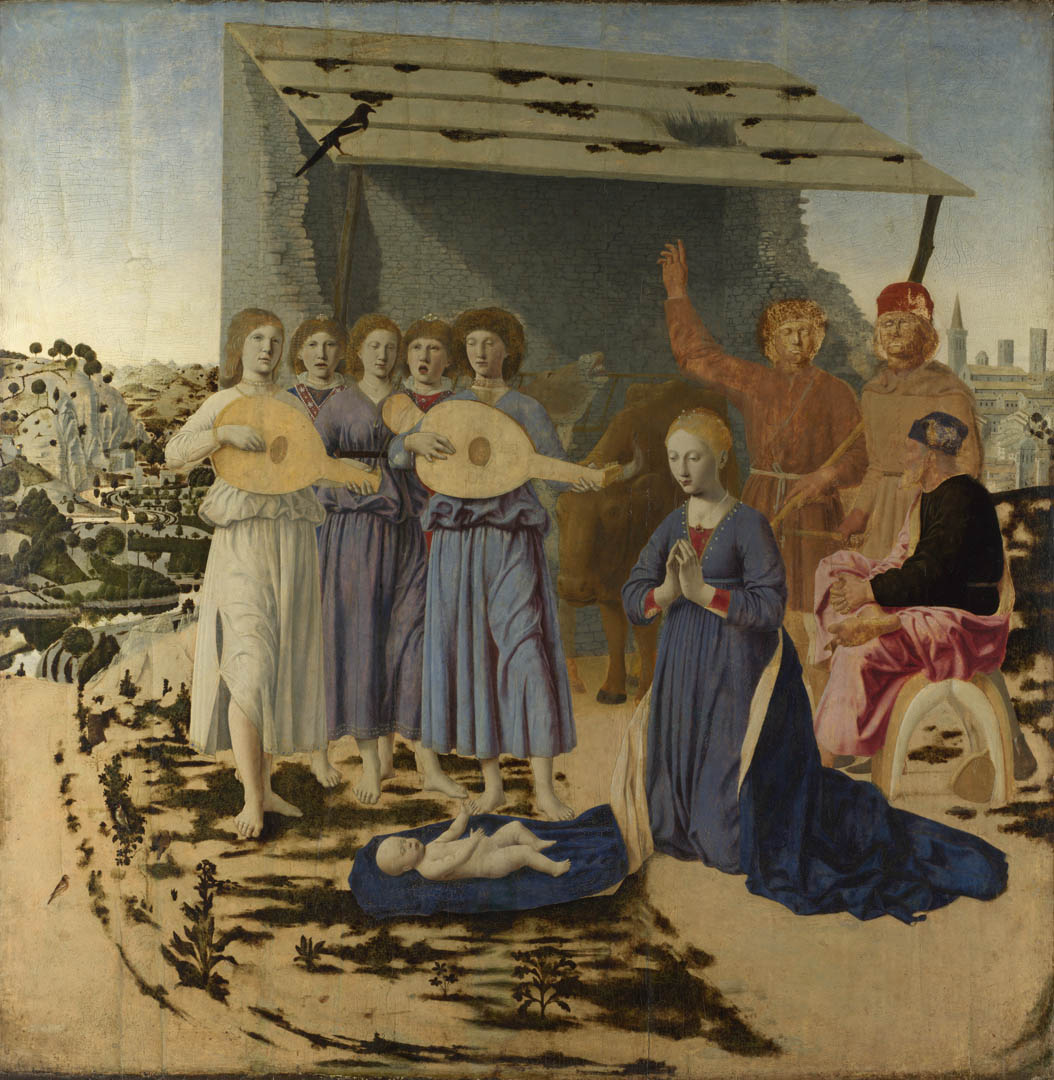 Full title: The Nativity Artist: Piero della Francesca Date made: 1470-5 Source: http://www.nationalgalleryimages.co.uk/ Contact: picture.library@nationalgallery.co.uk Copyright © The National Gallery, London